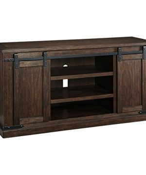 Signature Design By Ashley Budmore Large TV Stand Rustic Brown 0 300x360