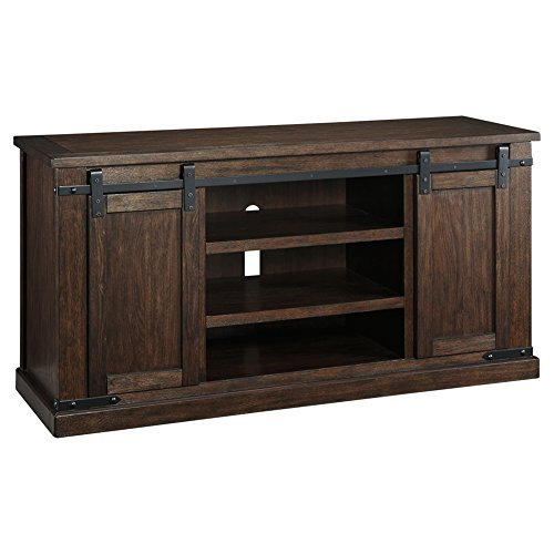 Signature Design By Ashley Budmore Large TV Stand Rustic Brown 0