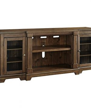 Signature Design By Ashley Flynnter Extra Large TV Stand With Fireplace Option Medium Brown 0 300x360