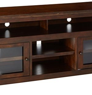 Signature Design By Ashley Harpan Large TV Stand Reddish Brown 0 300x312