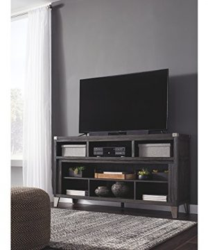 Signature Design By Ashley Todoe Large TV Stand With Fireplace Option Gray 0 0 300x360