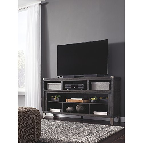 Signature Design By Ashley Todoe Large TV Stand With Fireplace Option Gray 0 0