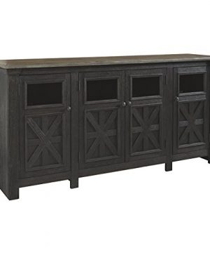 Signature Design By Ashley Tyler Creek Extra Large TV Stand BlackGray 0 300x360