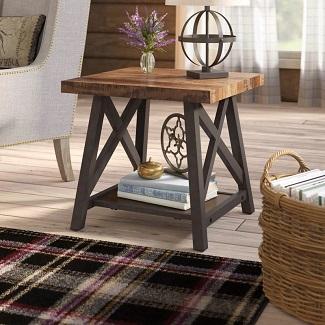 Silvis Trestle End Table