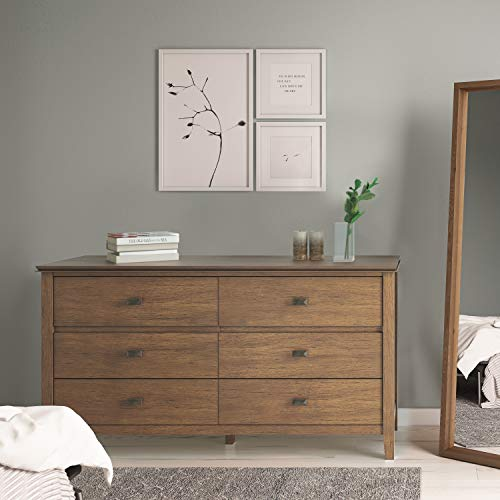 Simpli Home Artisan Solid Wood 60 Inch Wide Contemporary Bedroom Dresser And Media Cabinet In Rustic Natural Aged Brown 0 0