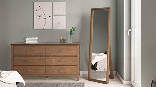Simpli Home Artisan Solid Wood 60 Inch Wide Contemporary Bedroom Dresser And Media Cabinet In Rustic Natural Aged Brown 0 1
