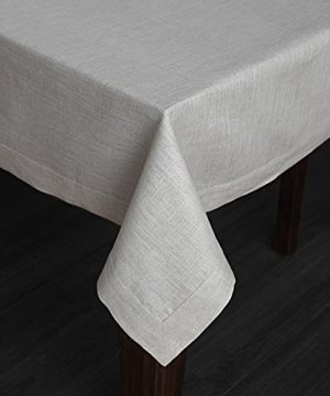 Solino Home 100 Linen Tablecloth 60 X 144 Inch Natural Natural Fabric European Flax Athena Rectangular Tablecloth For Indoor And Outdoor Use 0 0 300x360