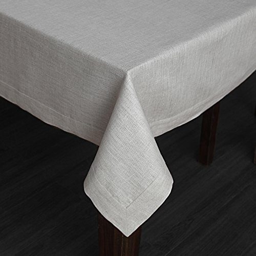 Solino Home 100 Linen Tablecloth 60 X 144 Inch Natural Natural Fabric European Flax Athena Rectangular Tablecloth For Indoor And Outdoor Use 0 0