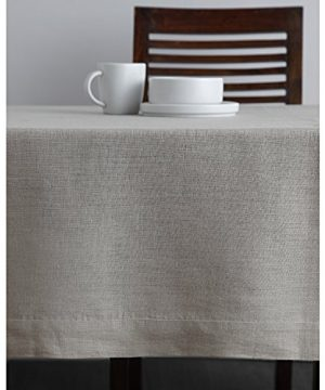Solino Home 100 Linen Tablecloth 60 X 144 Inch Natural Natural Fabric European Flax Athena Rectangular Tablecloth For Indoor And Outdoor Use 0 1 300x360
