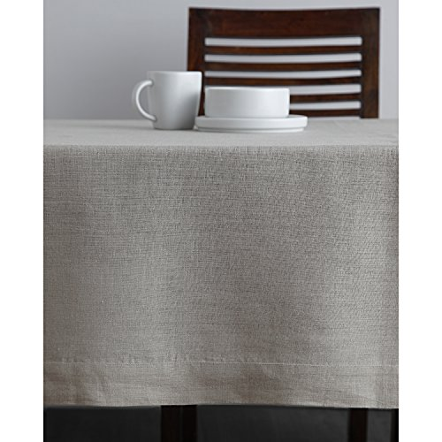 Solino Home 100 Linen Tablecloth 60 X 144 Inch Natural Natural Fabric European Flax Athena Rectangular Tablecloth For Indoor And Outdoor Use 0 1
