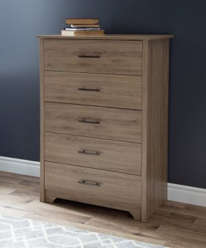 South Shore Fusion 5 Drawer Chest Rustic Oak 0 300x360