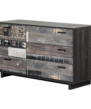 South Shore Fynn 6 Drawer Double Dresser Gray Oak And Factory Planks Effect 0 300x360