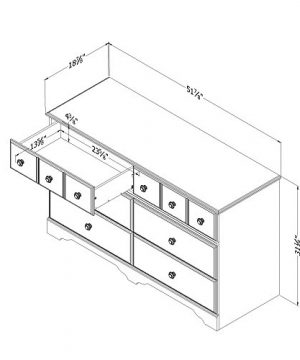 South Shore Little Treasures 6 Drawer Double Dresser Country Pine 0 0 300x360