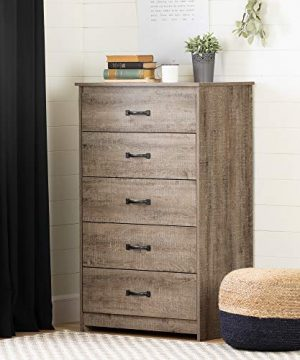 South Shore Tassio 5 Drawer Chest Weathered Oak 0 300x360