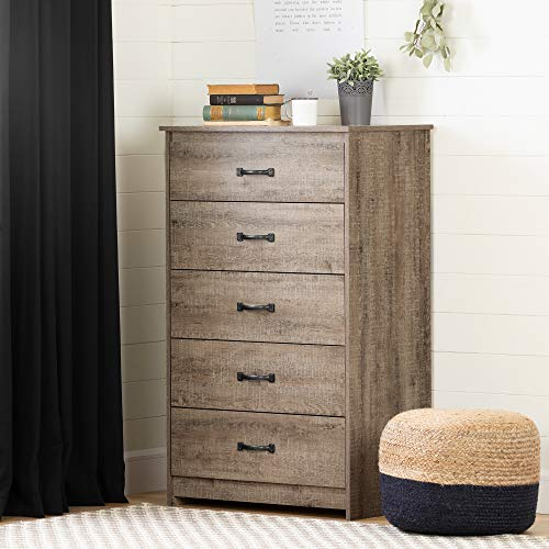 South Shore Tassio 5 Drawer Chest Weathered Oak 0