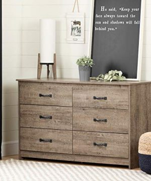 South Shore Tassio 6 Drawer Double Dresser Weathered Oak 0 300x360