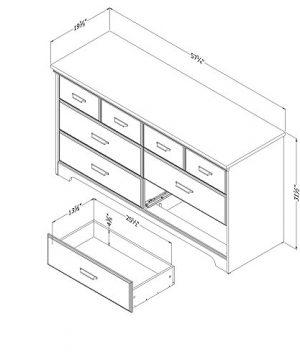 South Shore Versa 6 Drawer Double Dresser Weathered Oak 0 1 300x360