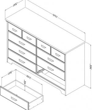 South Shore Versa Collection 8 Drawer Double Dresser Weathered Oak With Antique Handles 0 3 300x360
