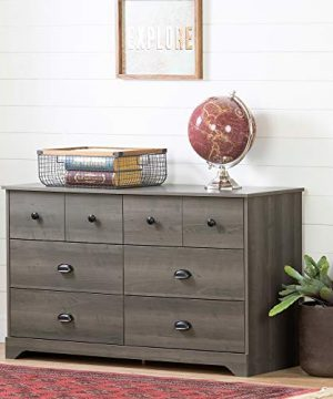 South Shore Volken 6 Drawer Double Dresser Gray Maple 0 300x360
