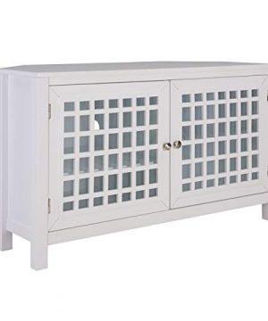 Southern Enterprises Narita TV Stand White 0 300x360