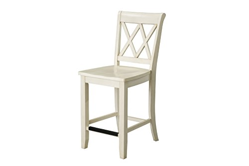 Standard Furniture Vintage Counter Height Chairs 2 Pack Vanilla Vanilla 0 1