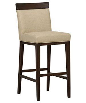 Stone Beam Burke Modern Wood Accent Kitchen Counter Dining Room Bar Stool 44 Inch Height Hemp Beige 0 300x360