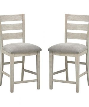 Stone Beam Decatur Wood Kitchen Counter Stools Set Of 2 405 Inch Height Grey 0 300x360
