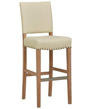 Stone Beam Leon Kitchen Counter Bar Stool 45 Inch Height Ivory 0 300x360