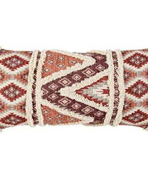 Stone Beam Modern Patterned Throw Pillow 12 X 24 Inch Multicolored Red 0 300x360