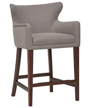 Stone Beam Wickstrom Counter Height Upholstered Barstool 37H Slate Grey 0 300x360