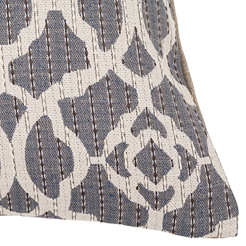 Stone Beam Woven Trellis Modern Decorative Throw Pillow 20 X 20 Slate Grey 0 1