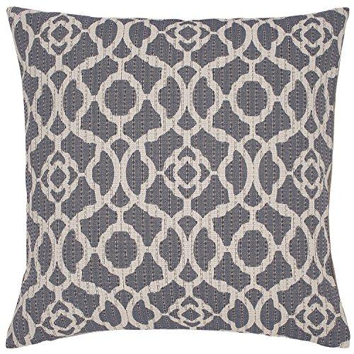 Stone Beam Woven Trellis Modern Decorative Throw Pillow 20 X 20 Slate Grey 0