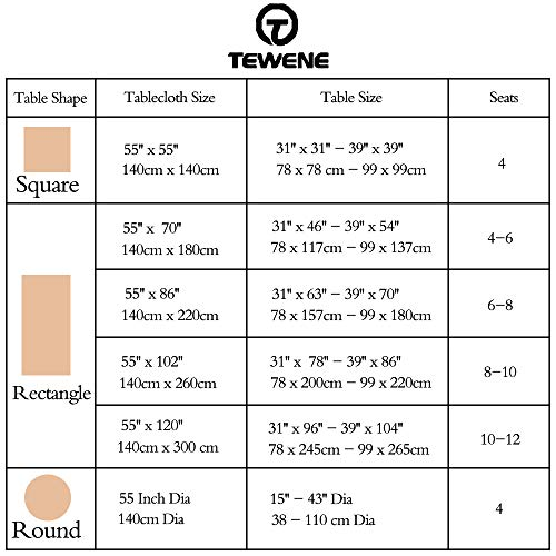 TEWENE Tablecloth Square Table Cloth Cotton Linen Anti Fading Wrinkle Free Tablecloths Washable Dust Proof Embroidery Table Cover For Kitchen Dinning Party Square55x554 Seats Gray 0 3