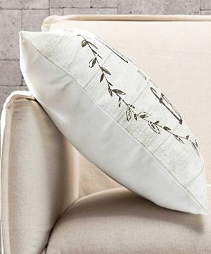 TINAS HOME Farmhouse Quote Decorative Throw Pillows With Down Alternative Stuffing Life Is Better ON The Farm 18x18 Inches Beige 0 1 300x360
