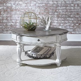 Tavant Wheel Coffee Table with Storage