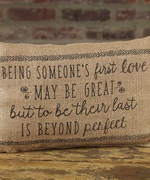 The Country House Collection First Love Beyond Perfect 12 X 8 Burlap Decorative Throw Pillow 0 300x360