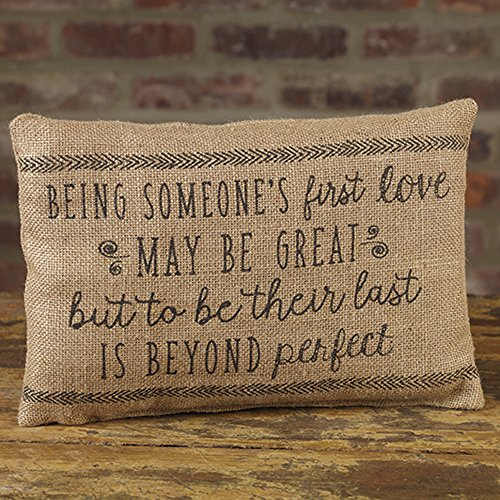 The Country House Collection First Love Beyond Perfect 12 X 8 Burlap Decorative Throw Pillow 0