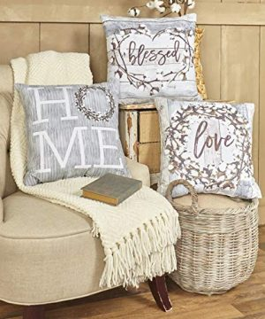 The Lakeside Collection 3 Pc Cotton Boll Accent Pillows 0 300x360