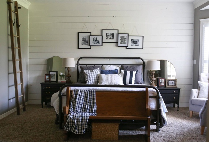 Tomball, TX - Farmhouse Master Bedroom Update by Moore House Interiors, LLC