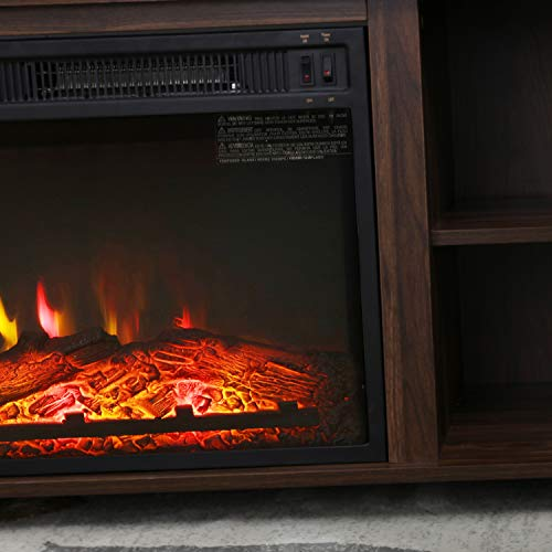 Top Space Electric Fireplace TV Stand Entertainment Center Corner Electric Fireplace Console Fireplace Heater For TVs Up To 60Wooden Electric Fireplace TV StandRustic 0 5
