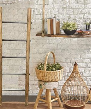 Towel Ladder For Bathroom In Modern Farmhouse Style Handcrafted 5 Ft Wooden Ladder With Stainless Steel Metal Rungs Use As Blanket Rack Quilt Ladder Decorative Leaning Ladder 0 2 300x360