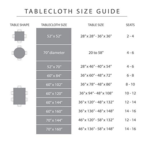 Town Country Living CheckeredFarmhouse IndoorOutdoorPicnic Tablecloth 100 Woven Cotton Stain Resistant Machine Washable 70 Round White 0 2