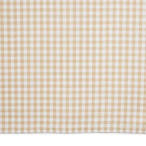 Town Country Living Gingham Tablecloth FarmhouseIndoorOutdoorPicnic 100 Woven Cotton Stain Resistant Machine Washable 60x84 Biege 0 1