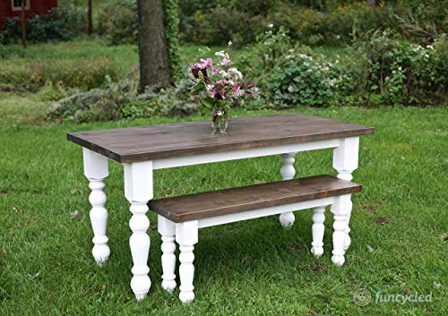 Transitional Country Dining Table Legs In Knotty Pine Set Of 4 0 2
