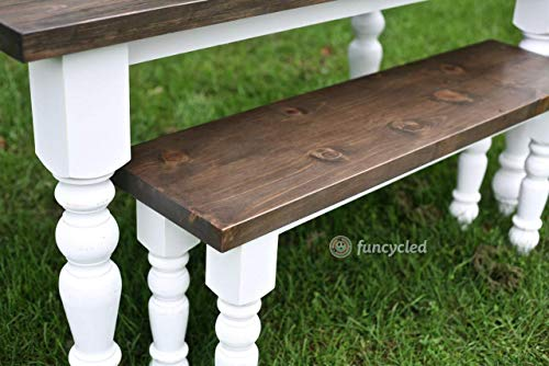 Transitional Country Dining Table Legs In Knotty Pine Set Of 4 0 3