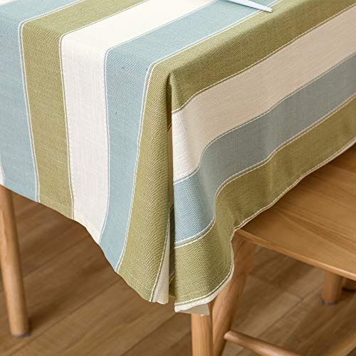 TruDelve Heavy Duty Cotton Linen Table Cloth For Square Table Farmhouse Tablecloth For Dining Table Dust Proof Table Cover For Tabletop Decoration 52x52 Green 0 3