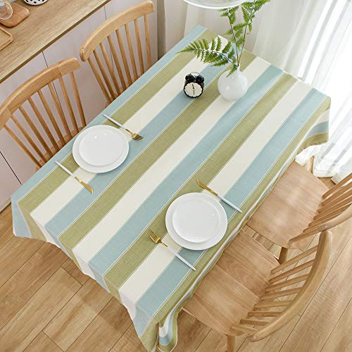 TruDelve Heavy Duty Cotton Linen Table Cloth For Square Table Farmhouse Tablecloth For Dining Table Dust Proof Table Cover For Tabletop Decoration 52x52 Green 0 4