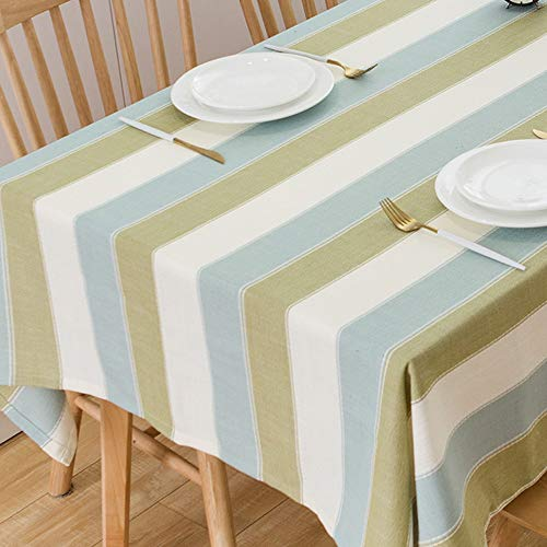 TruDelve Heavy Duty Cotton Linen Table Cloth For Square Table Farmhouse Tablecloth For Dining Table Dust Proof Table Cover For Tabletop Decoration 52x52 Green 0