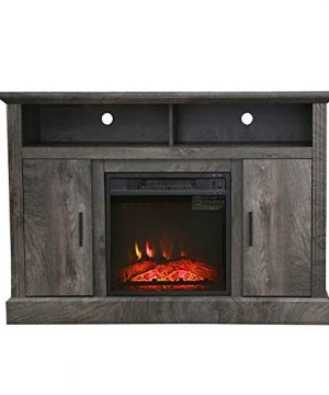 VACA KEY 47 Wide Electric Fireplace TV Stand Console For TVs Up To 55for Living RoomGrey 0 3 300x360