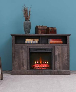 VACA KEY 47 Wide Electric Fireplace TV Stand Console For TVs Up To 55for Living RoomGrey 0 300x360